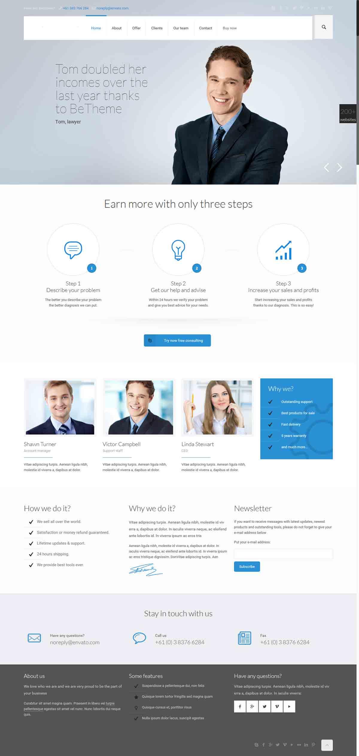 طراحی وب سایت بیزینس