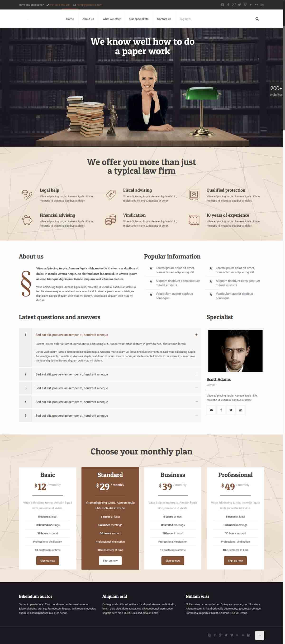 طراحی وب سایت وکالت