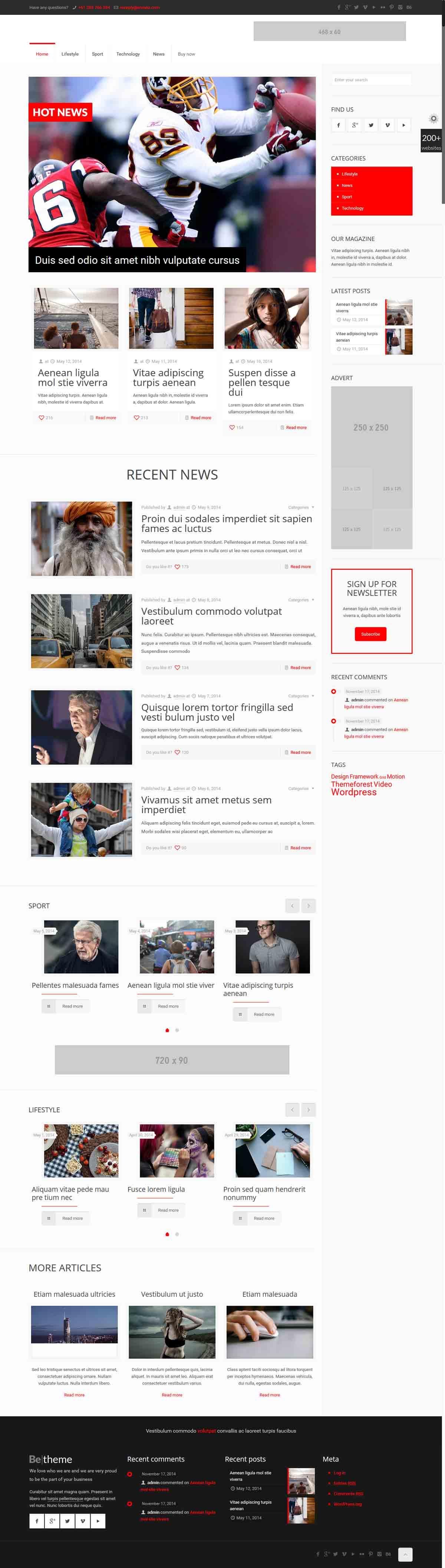 طراحی وب سایت خبری ورزشی