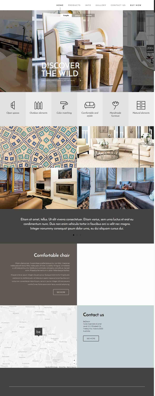 طراحی وب سایت دکوراسیون ارزان