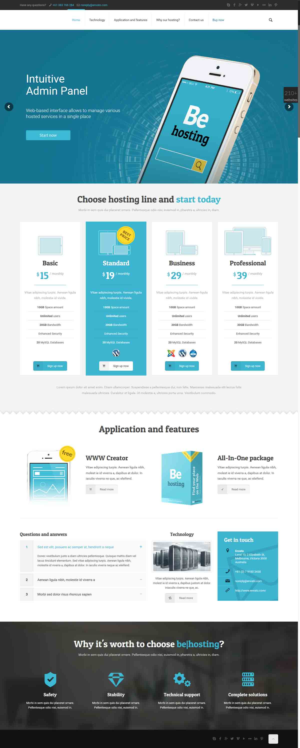 طراحی وب سایت هاستینگ