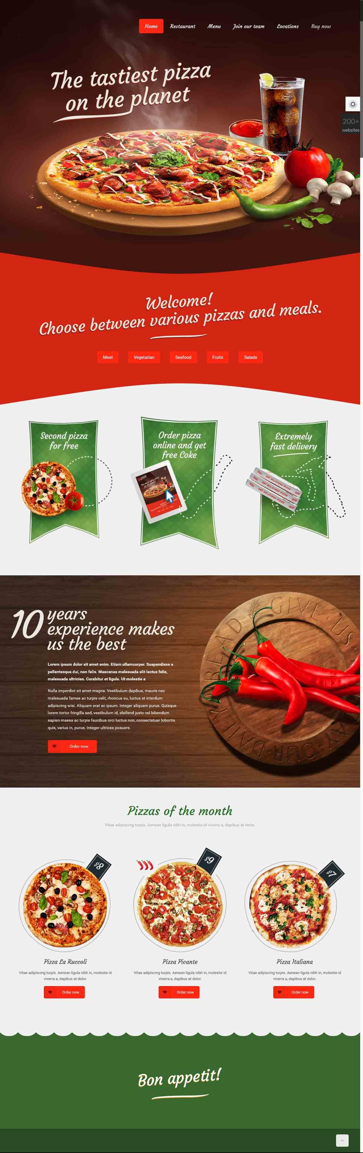 طراحی وب سایت پیتزایی حرفه ای
