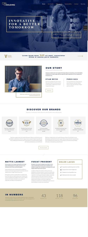 طراحی وب سایت هلدینگ