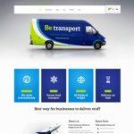 تصویرطراحی سایت حمل و نقل بین المللی حرفه ای